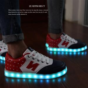 China fashion new style LED light casual shoes have seven colours and eight flashs twinkle at night for adults and children on sale