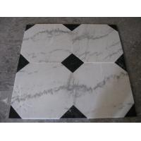 Guangxi White Marble Floor Tiles,Chinese Carrara Marble White Marble Designed Indoor Flooring,White Marble Floor Stone