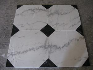 China Guangxi White Marble Floor Tiles,Chinese Carrara Marble White Marble Designed Indoor Flooring,White Marble Floor Stone on sale