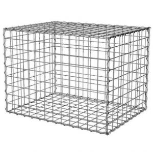China 100x100x50cm Welded Gabion Wire Mesh Retaining Wall For Building Square Hole Shape on sale
