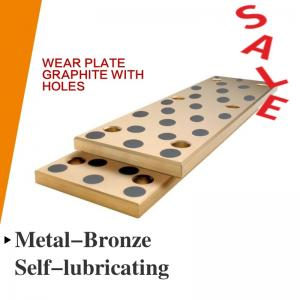 China CNC Bronze Steel & Self Lubricating Wear Plates Inch Oilimpregnated Graphite Plugs on sale