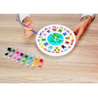 China DIY Painting Battery Powered 9  Wall Clock Art And Craft Kits For Children on sale