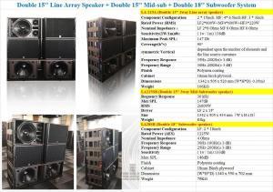 """China LA-215A Pro outdoor Line array dual 15"""" 2*15LF,4*6.5MF,3*3''HF on sale"""