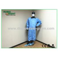 Green , Blue Medical Sterile Disposable Surgical Gowns of Knitted Wrist