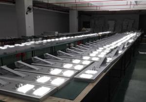 China Todos en una luz de calle solar de la integración LED on sale