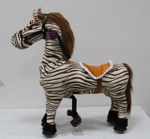 China Zebra pony cycle walking animal toy on sale