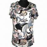 El vestido de moda de las mujeres con por todo la impresión, hecha del 100% modelo teñido modal, reactivo