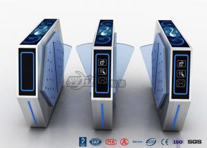 China Torniquete de la barrera de la aleta de 2 carriles con el sistema de Manament del boleto con la luz en cine on sale