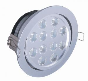 China 12W High Brightness ROHS Semi Commercial Indoor Led Recessed Ceiling Lighting For Bathroom on sale