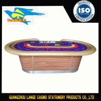 Custom Fireproof Casino Baccarat Table Tablecloth Poker Table With Wooden Leg