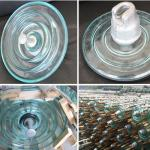 Green Glass Electric Insulators Disc Suspension Type Toughened Glass Insulator