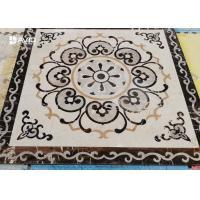 Water Jet Marble Floor Medallions Flower Pattern For Decoration Non Slip