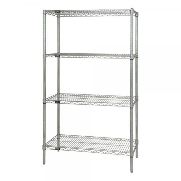 Grocery Store White Metal Display Racks wire mesh display stand ...