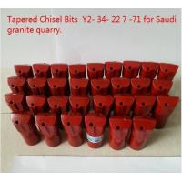 Tapered Chisel Drill Bit 7 Degree Taper Angle For Saudi Granite Quarry