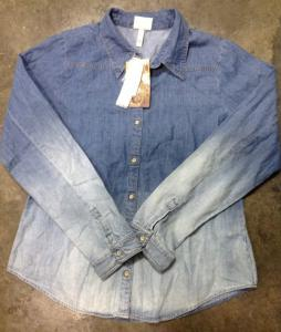 China wholesale 40,000 pcs Retro vintage faded denim shirt stock ,2014 denim shirt tendency on sale