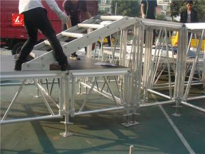 China Height Adjustable Aluminum Stage Platform / Stage Riser Strong Frame 0.4 - 1.8M on sale