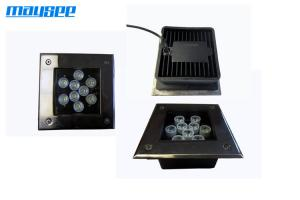 China High Bright Square 9x1w Embedded RGB LED Inground Lights For Outdoor on sale