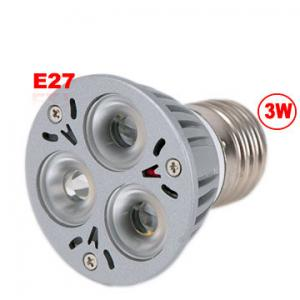 China 3W E27 3 LED Spot Light Bulb Spotlight 85-265V on sale