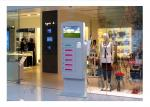 Video Advertising Automatical Smart Cell Phone Charging Kiosk Interactive Information