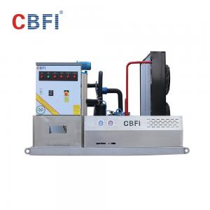 China 1 Mm To 2 Mm Flake Ice Machine / Flake Ice Making Machine For Fishery Meat Cooling? on sale