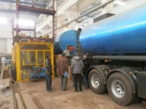 China Short Distance Bitumen Transport Tanker Simple Type Burner Direct Heating on sale