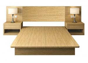 China Easy To Clean Commercial Hotel Furniture , E1 MFC Board Health Apartment Bed on sale