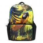 3D animal print pattern 17 inch backpack student personality fashion trend creative backpack