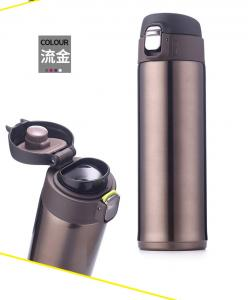 China Custo logo 300ml 18/8 stainless steel water bottle sports vacuum flasks & thermos on sale