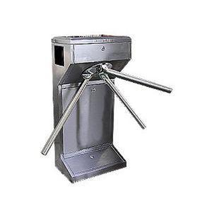 China TCP / IP Waist High Semi Automatic electronic tripod turnstile gate for entry access contr on sale