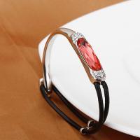 Ref No.: 340306 Black glass rope buckle Bracelet online diamonds australia beautiful costume jewelry