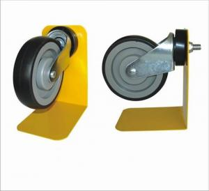 China Black Trolley Locking Caster Wheels With 1 Year Warranty , Shopping Trolley Wheels on sale