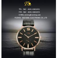 China PU leather strap for men watch couple watches color  band and dial customized on sale