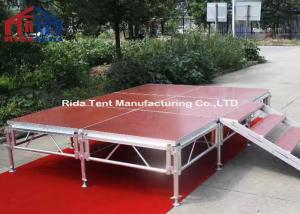 China Durable Portable Drum Riser Stage / Runway Stage Solid Structure Long Lifetime on sale