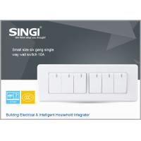 Famous Chinese products good quality GNW58C small size six gang single way wall switch