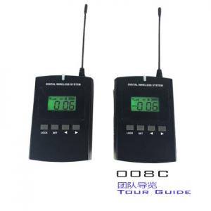 China Black Color Audio Guide Device Transmitter / Receiver For Simultaneous Interpretation on sale