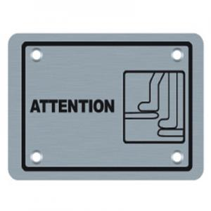 China attention sign warning sign safety sign (BA-P018) on sale