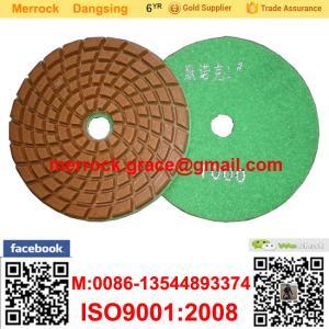 China Tampón para pulir del diamante flexible de 4 pulgadas para el tampón para pulir mojado del mármol y del granito on sale