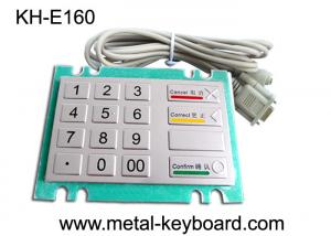 China Bank Kiosk Metal PinPad with Water - proof Vandal resistant Keypad on sale