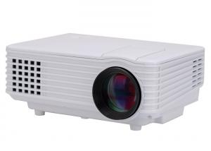 China White Color HD Video Projectors / Movie Projectors For Home Support IPhone IPad Computer on sale