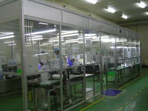 China Clean Room Accessories Aluminum Positive Pressure Softwall Clean Room Top Laminar Flow on sale
