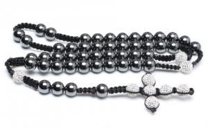 China Shamballa Handcrafted colar frisada, círculos magnéticos do hematita & o cristal pavimenta grânulos do Argil on sale