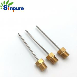 China Piercing Hard Pencil Point Needle Through Hole With NPT Thread Connector on sale