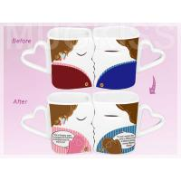 wedding gift item promiss mug heart shaped lovers mug custom color changing mug