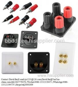 China Binding Post Double Standard Stud Nut 30 A 1000 V Gold Plate on sale