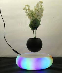 China led light magnetic floating levitaet bottom air bonsai pot planter on sale