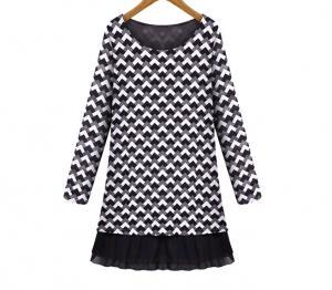 China 2016 new clothing  for fat women dresses chiffon long sleeve maxi dresses on sale
