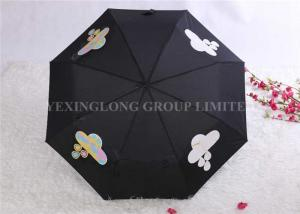 China Tri Fold Unique Rain Umbrellas Water Changing Umbrella That Changes Color In The Rain on sale