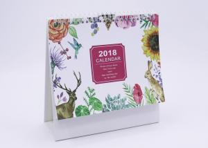 China Paper Desk Calendar With Transparent Plastic Cover , 300gsm Business Desk Calendars on sale