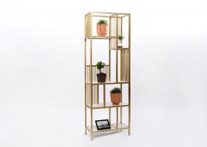 China 180CM Height Steel Shelving Unit , Wire Retail Display Racks With Golden Coating on sale