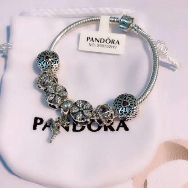 e17ce1f07 Pandora bracelet Antique Silver Original Women Glass Charm Bangle heart Fit  Images